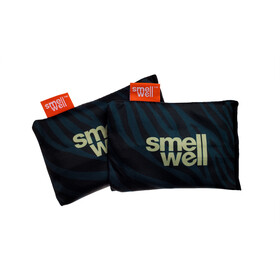 SmellWell Active Freshener Inserts for Shoes and Gear, black zebra